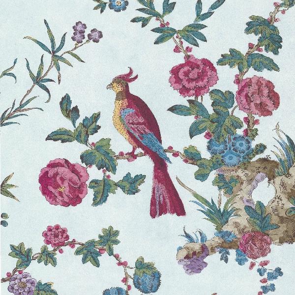 Little Greene S Fabulous Floral Wallpaper With Birds Darwin