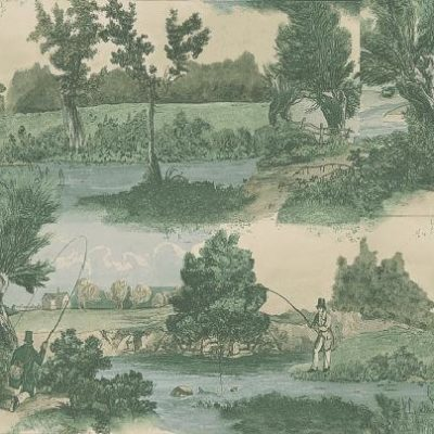 Fly Fishing by Lewis & Wood country sporting wallpaper