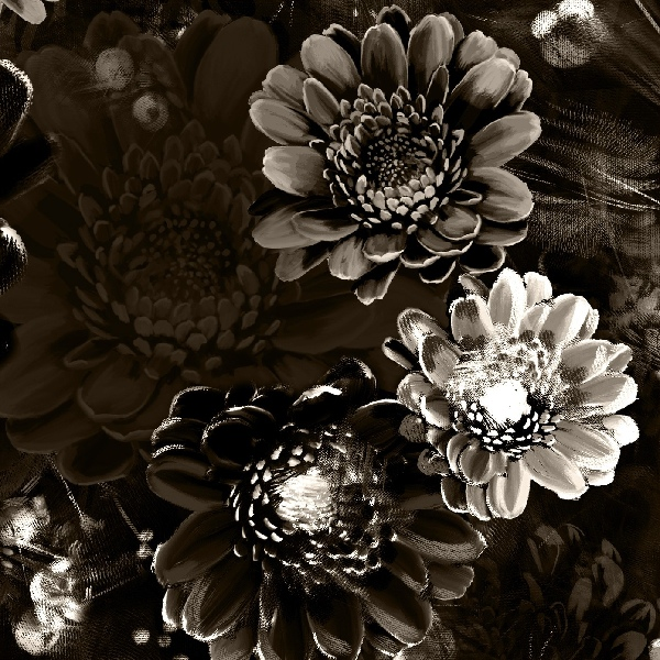 Gloom with dark moody floral wallpaper