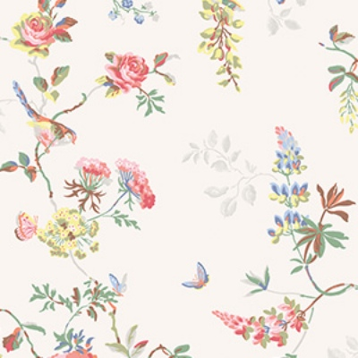 Birds And Roses Cath Kidston Fl Wallpaper Fabric