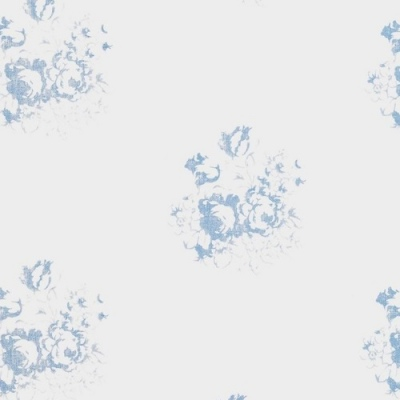 Cabbages and Roses Hatley blue floral wallpaper and fabric