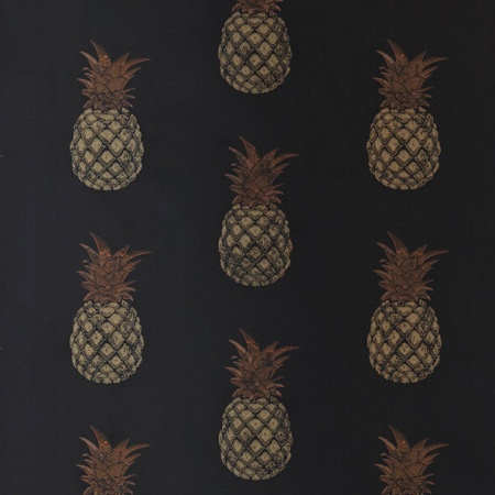 Pineapple Barneby Gates quirky wallpaper