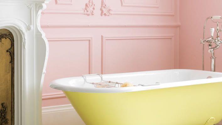 Yellow And Pink Bathroom. Catchpole U0026 Rye La Provence Yellow Cast Iron Bath