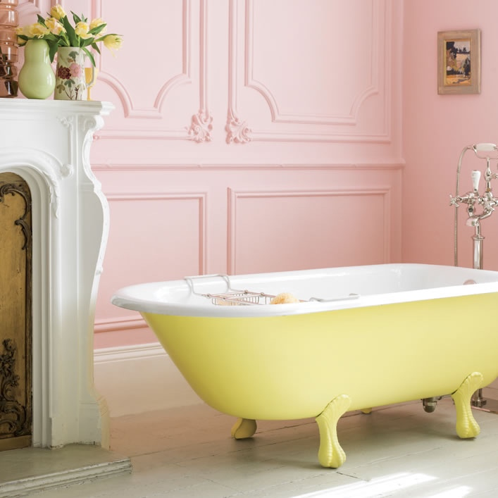 Catchpole & Rye La Provence yellow cast iron bath
