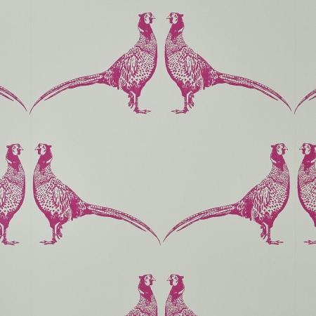 Cream Pheasant animal print wallpaper by Barneby Gates