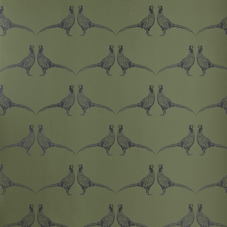 Green Pheasant animal print wallpaper by Barneby Gates