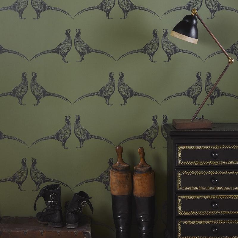 Green Pheasant wallpaper by Barneby Gates