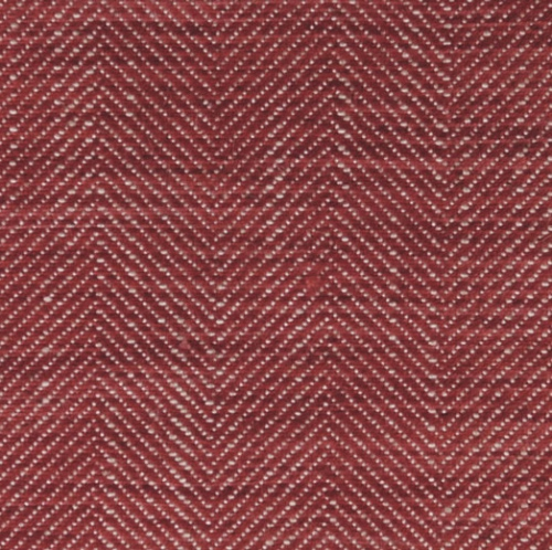 Ian Mankin Arran Peony washable viscose linen herringbone in a soft deep red suitable for curtains and upholstery