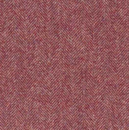 Ian Mankin Haworth burgundy wool fabric