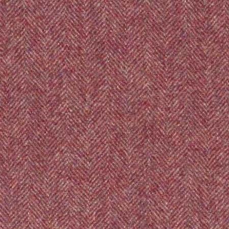 Ian Mankin Haworth burgundy wool fabric