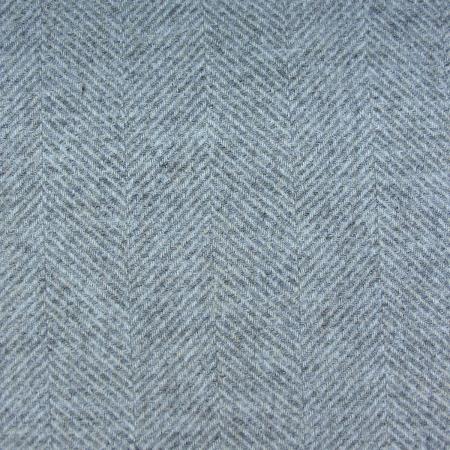 Tinsmiths Galloway smoke grey wool fabric