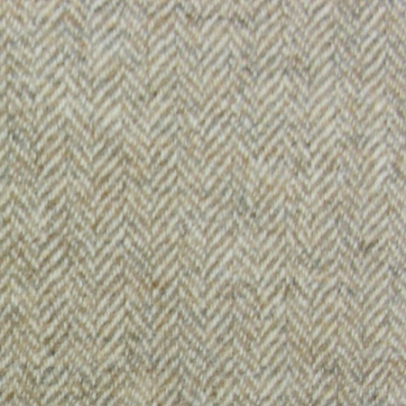Tinsmiths Herringbone Wool fabric natural
