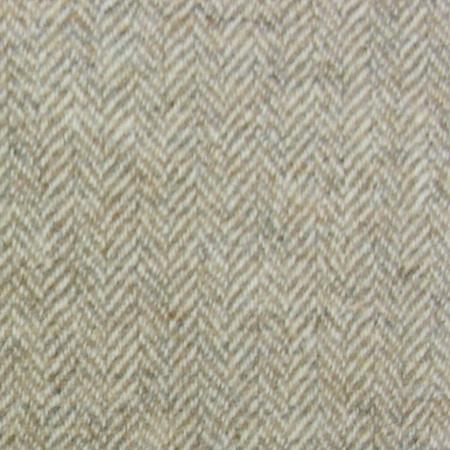 Tinsmiths Herringbone Wool fabric natural
