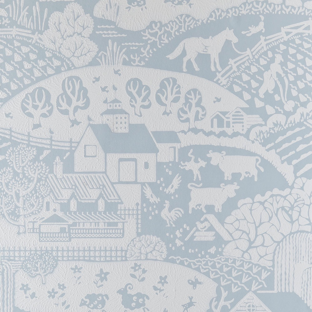 Farrow & Ball Gable Wallpaper blue