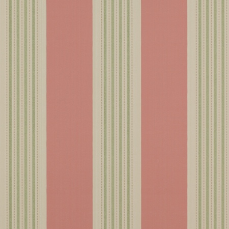 Colefax Fowler Tealby Stripe Red Green wallpaper