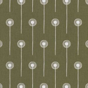 St Judes Dandelion Two modern english textiles angie lewin brown printed linen