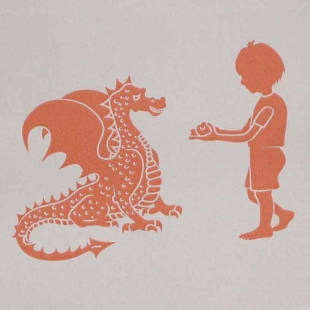 PaperBoy Ere Be Dragons boys wallpaper