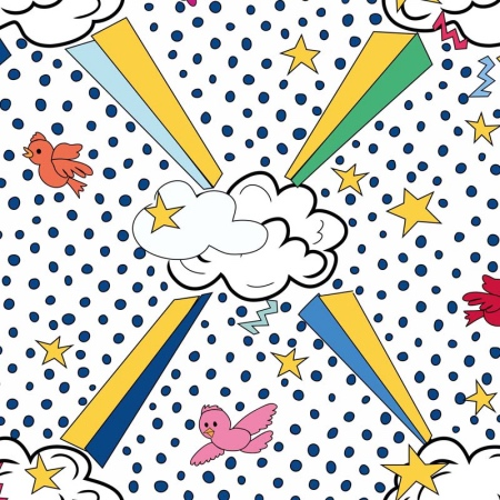 Ottoline Sky Candy pop art wallpaper boys bedrooms