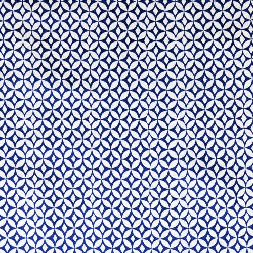 Korla Portia Ink Blue royal blue small geometric printed cotton