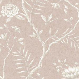 Lewis & Wood Jasper Peony Roan soft pink classical wide width wallpaper