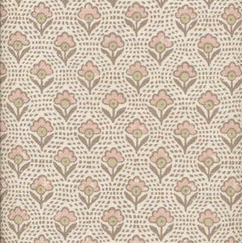 Lewis and Wood Speedwell Rose floral linen