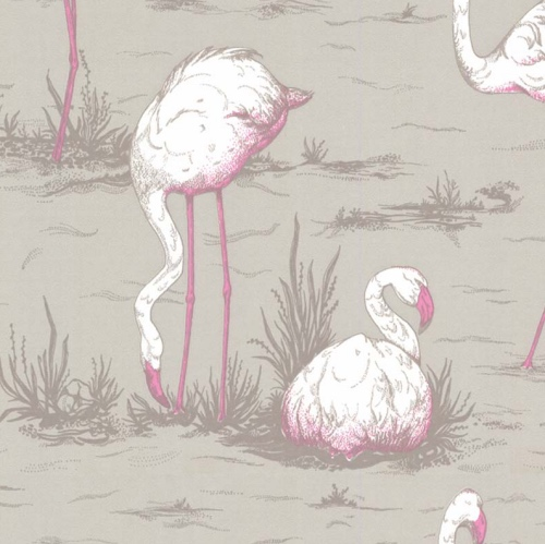 Cole & Son Flamingos pink wallpaper