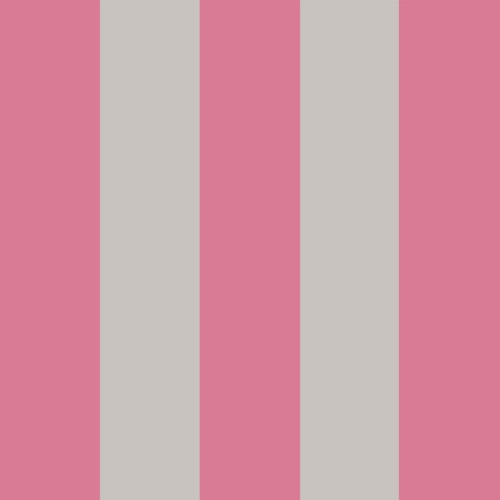 Cole & Son Glastonbury Stripe, pink & linen stripe wallpaper