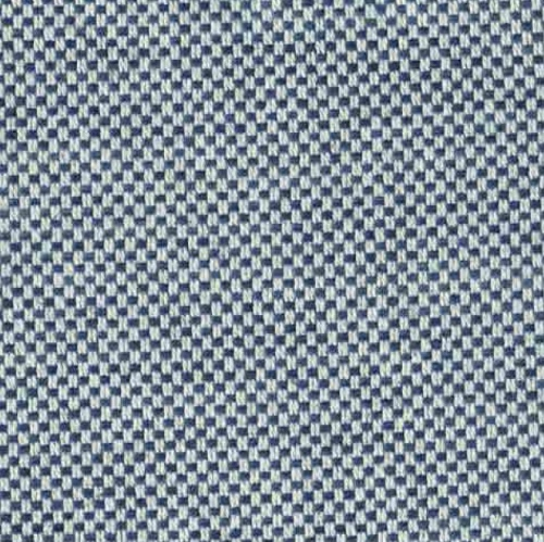 Ian Mankin Dundee Blue washable blue weave fabric