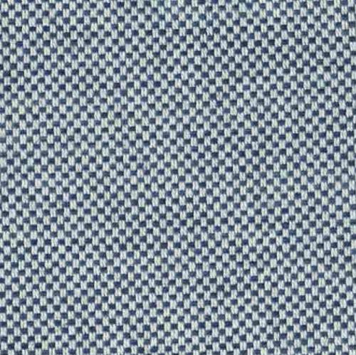 Ian Mankin Dundee Blue washable blue weave fabric