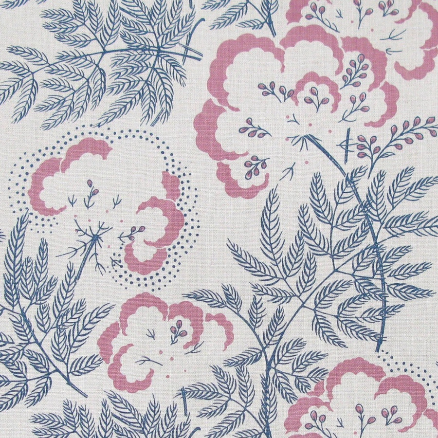 Rapture & Wright Cloud Garden Indigo blue floral handblocked fabric