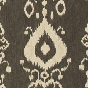 Kravet Pantan 1621 brown printed linen ikat ethnic fabric