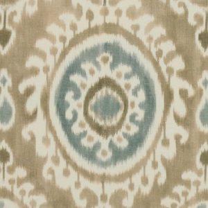 Manuel Canovas Madina Beige ikat printed ethnic fabric