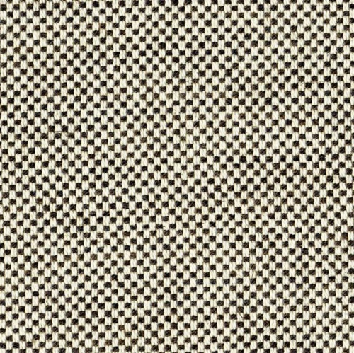 Ian Mankin Dundee Ebony black and white weave fabric durable
