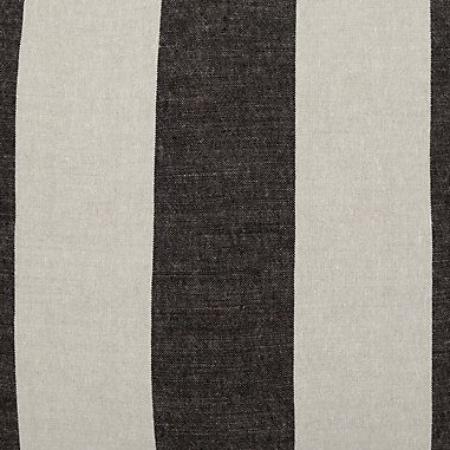 designers guild brera largo noir black white striped linen