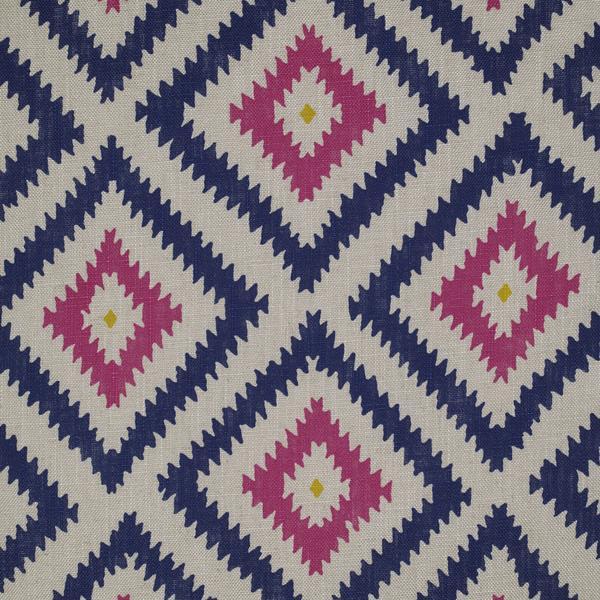 Andrew Martin Glacier Paradise geometric printed pink blue linen