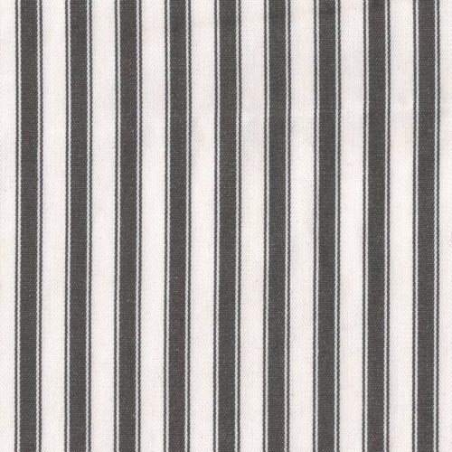 Annie Sloan Ticking graphite black white fabric