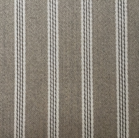 Kirkby Design Hertford Biscuit stripe brown fabric