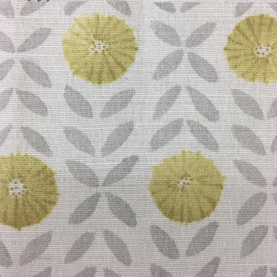 Sarah Hardaker Willowherb printed yellow flowers fabric
