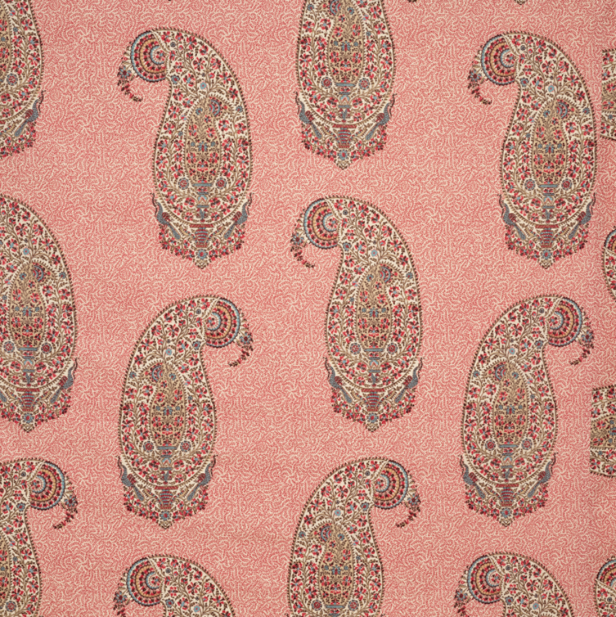 Soane Britain paisley parrot red pink chinz