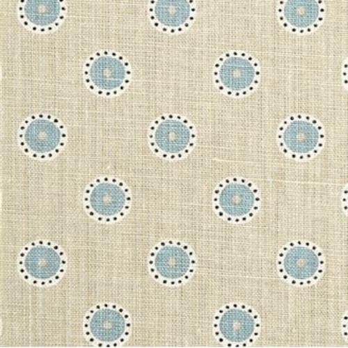 Vanessa Arbuthnott Pretty Maids Limestone, Smoke & Winter beige blue linen fabric