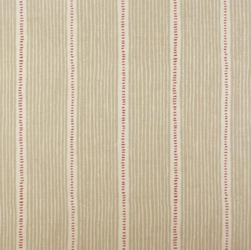 Vanessa Arbuthnott Stripe and Dash Limestone Raspberry stripe fabric
