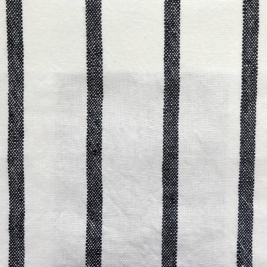 designers guild brera fino noir black white striped linen