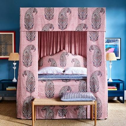 Soane Britain Paisley Parrot bedroom scheme