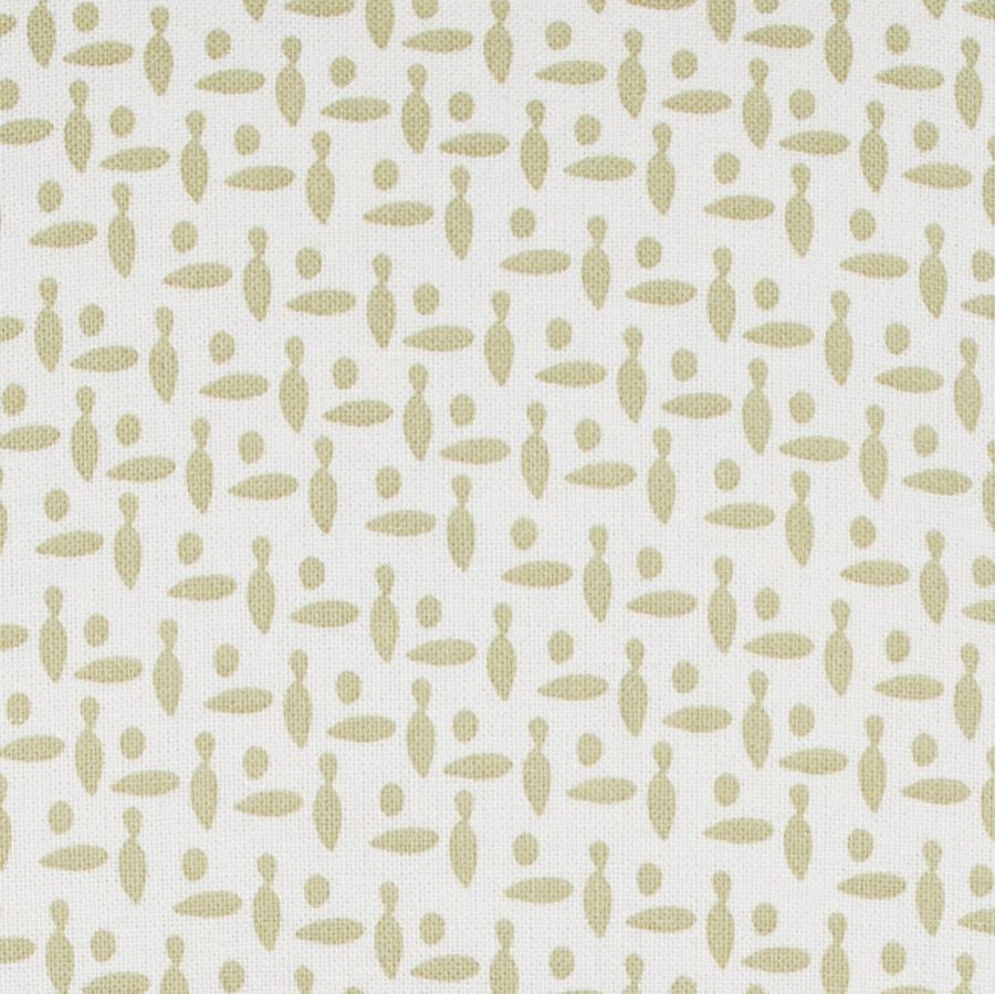 Neptune Lara Sage small pattern abstract linen fabric