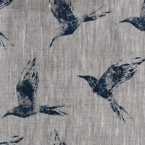 Zoe Glencross Bollin Bird inky sky animal fabric