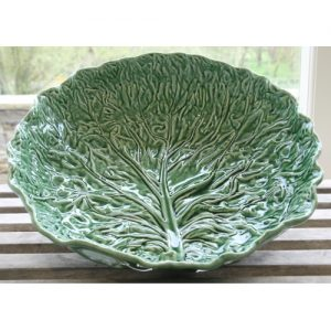 The Present House Glazed Cabbage Leaf Salad Bowl Christmas Gift Ideas