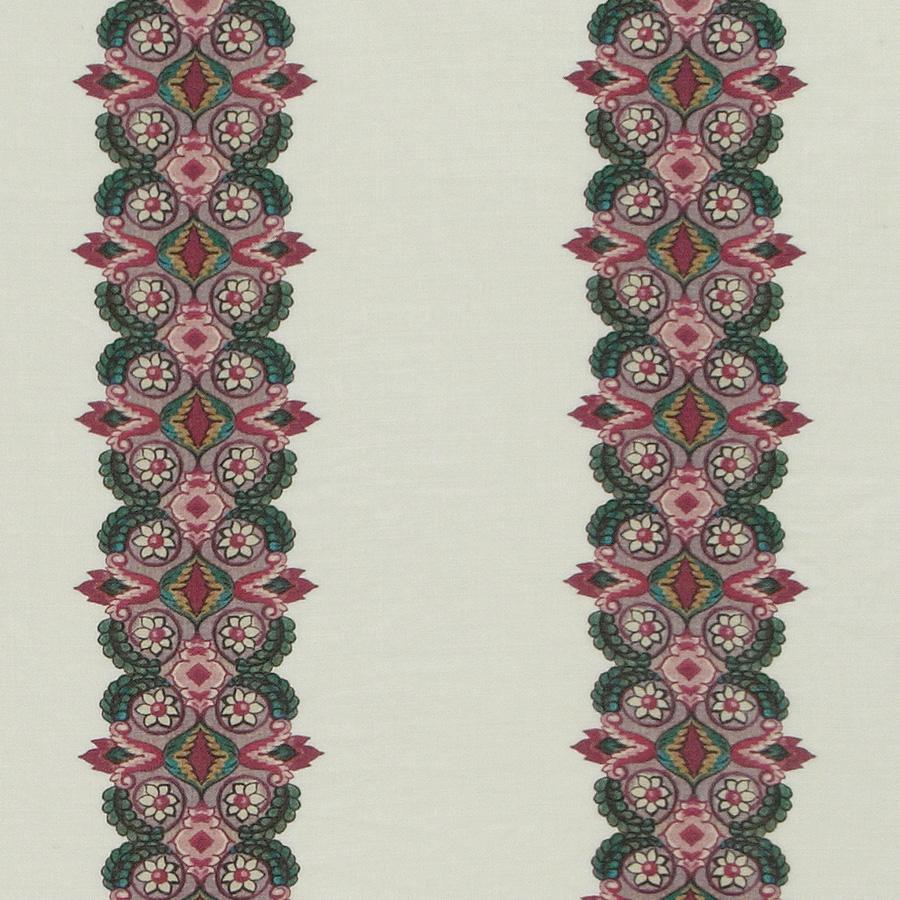 Inchyra Balazuc Morocco Stripe Ivory linen fabric