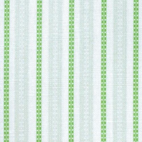 Charlotte Gaisford Zinal Stripe Green fabric