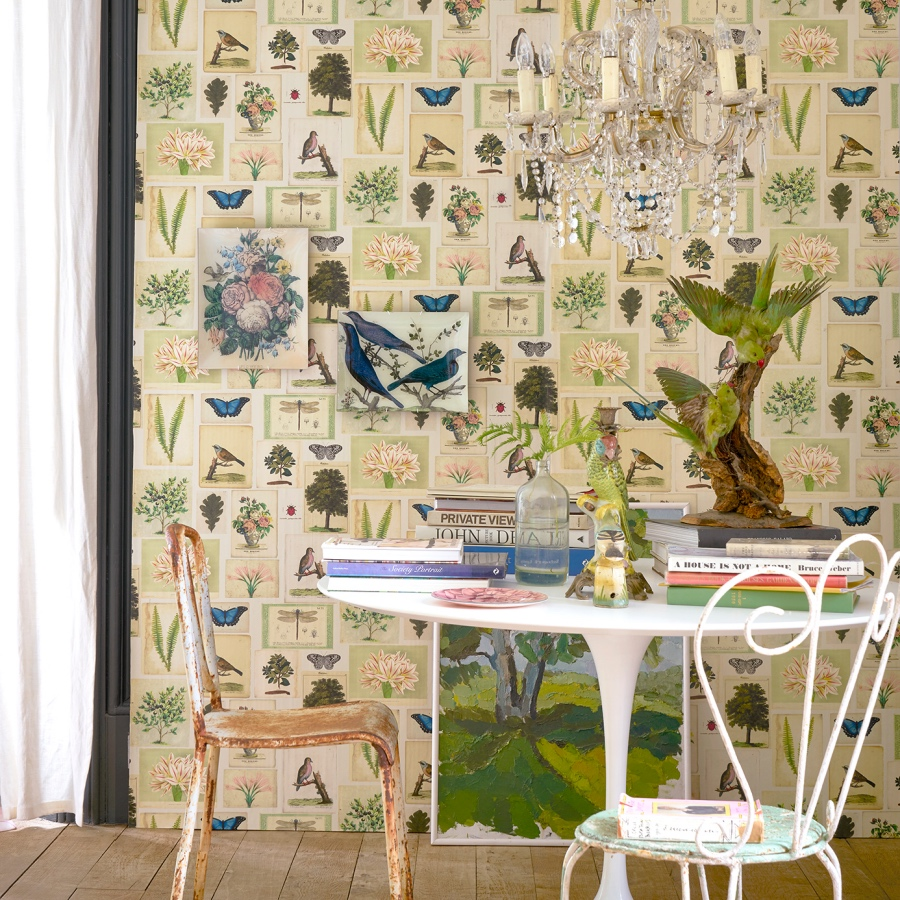 John Derian for Designers Guild Flora and Fauna wallpaper