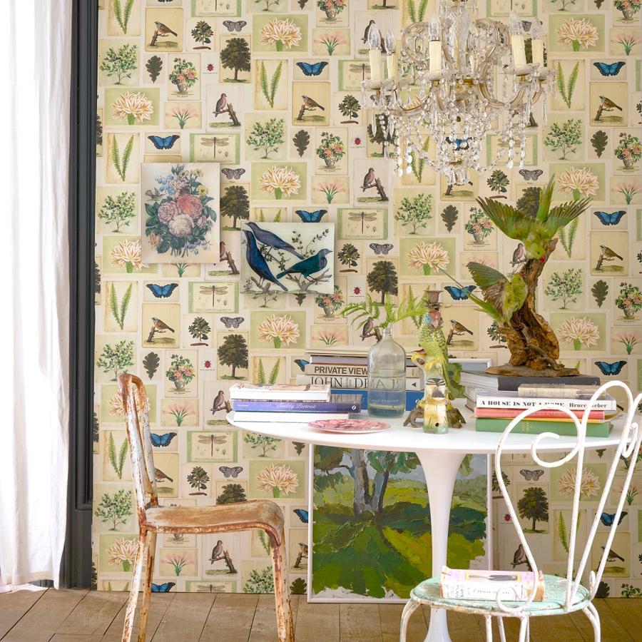 John Derian for Designers Guild Flora and Fauna wallpaper